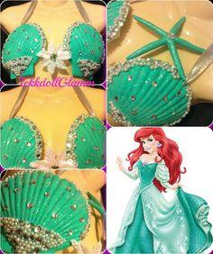 Pastel Mermaid Shell Bra