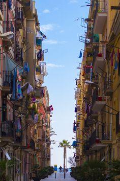 Weg zum Strand de Nils L. In La Barceloneta - Barcelona, Catalonia.