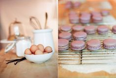 Completed pin #91: Honey Lavender Macarons. I didn't like this macaron recipe as much as the Martha Stewart one. These cookies didn't have the chewy part. They were mostly meringues. This recipe is HUGE! I cut it in half and it still made 30+ cookies. I wasn't a fan of the buttercream recipe b/c it was too thick. I couldn't pipe it onto my fragile macarons.  I used a salted caramel filling instead. I recommend adding lavender extract to your cookies in addition to whatever filling you use. 7...