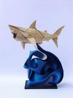 Requin en origami