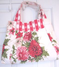 Recycled Vintage Tablecloth Bag by RecycledMemories on Etsy, $34.00
