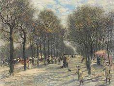 Tree lined Champs-Elysees Jean-François Raffaëlli - Date unknown