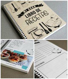 Libro de recetas Hermanas Bolena Ideas para organizar recetas y menus semanales