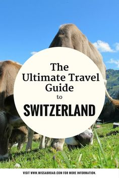 Ultimate Guide to Switzerland - All you need to know in one destination guide #travel