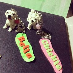 Friends furever handcrafted and customized clay pet replicas bag charms #artcraftedpets #ivonneramoscreations