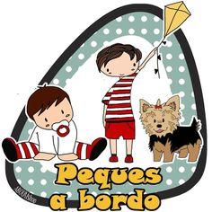 Image of Sticker 2 niños + perro