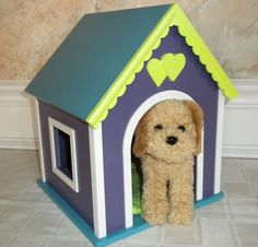 Dog house for American Girl Dolls  http://www.etsy.com/listing/93918204/dog-house-pet-house-for-mckenna-cooper
