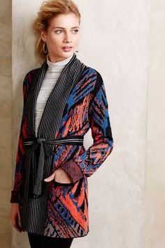 Log Cabin Cardigan #Anthropologie