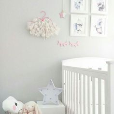 What a beautifully styled space by @woolandwillow   Our mini star hanging displayed perfectly with some other gorgeous insta stores  #decor #interior #nursery #babynursery #childrensdecor #kidsinterior #wallart #handmade by lil_co_