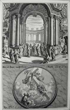 Christ's earthly ministry in the Phillip Medhurst Bible 258 of 550 Tribute to Cæsar Matthew 22:15-22 Paul exhorts to follow him Philippians 3:17 Kraussen on Flickr. A print from the Phillip Medhurst Collection at St. George's Court, Kidderminster.