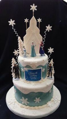 Frozen birthday cake.