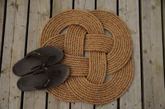 Nautical Rope Rug by OYKNOT on Etsy, $65.00