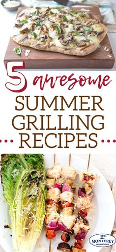 If you're searching for Memorial Day food or summer BBQ ideas, check out this post with 5 delicious summer grilling recipes! Lunch Recipes, Healthy Dinner Recipes, Beef Recipes, Real Food Recipes, Chicken Recipes, Simple Recipes, Pizza Recipes, Delicious Recipes, Best Mushroom Recipe