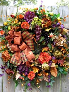 """TUSCAN SPICE"" FALL, TUSCAN WREATH, FRENCH COUNTRY, OLD WORLD, DOOR WREATH"