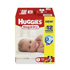 Huggies Snug & Dry Diapers Size 1 112 Count (Packaging May Vary)