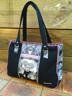 Goin' Uptown Tote - Andrie Designs bag pattern  Paper and PDF bag patterns  Tote bag  Handmade bag