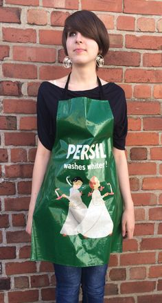 Vintage 1970's PVC Advertising Apron Persil by FoxFowweather