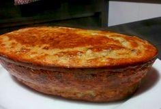 Torta de carne moída com requeijão