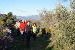Ruta Margarida-Beniaia 13/01/2013. En el camino