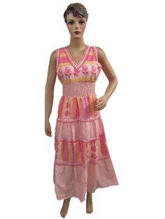 Boho Dress,pink Gypsy Smocked Waist Cotton Hippie Dress Summer Dress Mogul Interior,http://www.amazon.com/dp/B00EJA2IKW/ref=cm_sw_r_pi_dp_8.Ldsb1VW18XJ4CE