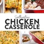 Southwestern Chicken Casserole (29g protein!) - Fit Foodie Finds Quorn Chicken, Lunches And Dinners, Meals, Clean Eating Dinner, Dinner Recipes, Dinner Ideas, Chicken Casserole, Healthy Summer, Southwestern Chicken