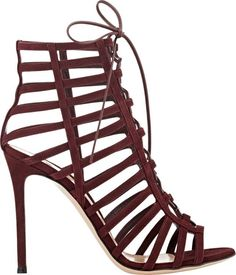 Gianvito Rossi Women's Caged Lace-Up Sandals-Colorless