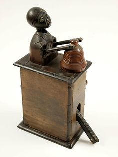 Kobe Toy Automata Kobi Toy Automaton: Ghost and Temple Bell. Japanese Wooden Toy