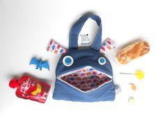 Back to school Bag | Zé Snack-glutton tote bag | funny kids bag | toddler tote snack bag | kids handbag | toy storage | blue boys handbag