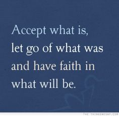 Acceptance and faith
