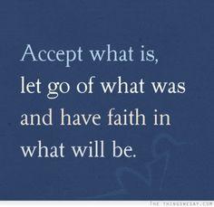 Acceptance and faith