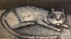 Картина кошка,масло-миниатюра,картинки – купить на Ярмарке Мастеров – H9J7ZRU   Картины, Архангельск Buy Paintings, Original Paintings, Original Art, Modern Wall Art, Online Art Gallery, Art Oil, Cat Art, Abstract Art, Cats