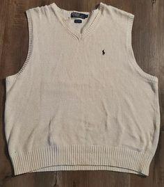 Polo Ralph Lauren Mens Sweater Vest Ivory Linen Cotton/Silk Size XL #PoloRalphLauren #Vest Cut Clothes, Polo Ralph Lauren, Magnetic Eyelashes, Women's Handbags, Plus Fashion, Fashion Tips, Fashion Trends, Cotton Silk, Pouches