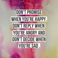 Dont promise....
