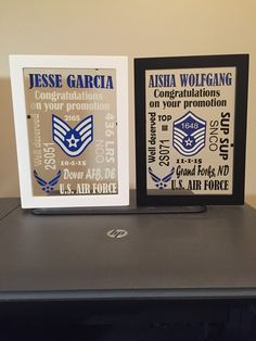 Floating glass Air Force Promotion gift by SimplySmallsCreation
