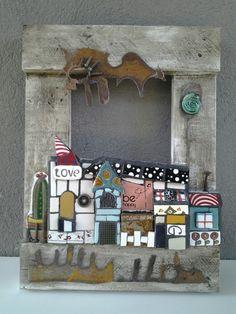 Mosaico,madera y cgapa