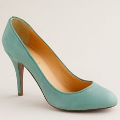 These are the Mona pumps in Pale Peacock. The pale sky blue, believe it or not, is such a good color that goes with so many things!! Too bad they're out in my size and they're expensive too :)