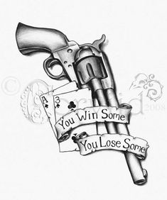 14 Latest Gun Tattoo Designs And Ideas intended for The Most Awesome along with Attractive Gun Tattoo pertaining to Tattoo Art 1 Tattoo, Tattoo Drawings, Tattoo Flash, Western Tattoos, Rose Tat, Tattoo Designs, Biker Tattoos, Cowboy Tattoos, Rosen Tattoos