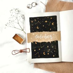 How To: Magical October Cover Page Kunst, M, Kunst Celestial Star Oktober Titelseite Bullet Journal Bullet Journal Inspo, Bullet Journal Aesthetic, Bullet Journal Writing, Bullet Journal School, Bullet Journal Spread, Bullet Journal Ideas Pages, Bullet Journal Front Page, Bullet Journals, Diy Journal Cover Ideas