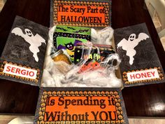Customized Care Packages by on Etsy Deployment Gifts, Care Packages, Scary, Packaging, Halloween, Handmade Gifts, Etsy, Kid Craft Gifts, Craft Gifts