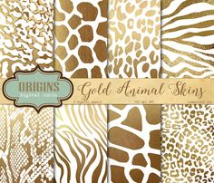 White and Gold Animal Skins by @Graphicsauthor