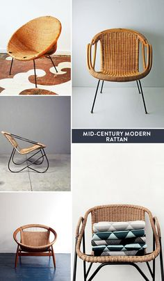 We had these all of my childhood. They were affordable, but we had to keep replacing them. They unraveled constantly kids) mid-century modern wicker. Wicker Patio Furniture, Wicker Table, Rustic Furniture, Modern Furniture, Wicker Man, Wicker Baskets, Vintage Furniture, Wicker Headboard, Wicker Bedroom