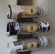 Porte-revues esprit industriel - Magazine rack with cans- Meubles et objets - Pure Sweet Home