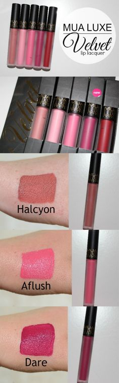 MUA Velvet Lip Lacquers Review and Photos - Anastasia Beverly Hills Liquid Lipstick Dupe http://pinkparadisebeauty.blogspot.co.uk/2015/04/mua-velvet-lip-lacquer-review-and.html