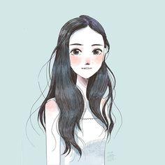 Long hair pretty face