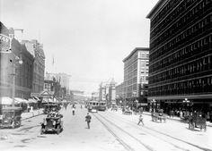 Portage Avenue, 1910s Old Photos, Vintage Photos, True North, Nostalgia, Street View, Canada, Strong, Memories, History