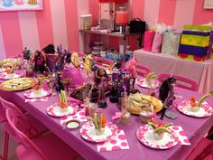 Ever After High Girls and Books Spa Party