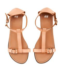 H leather T strap sandals H&m Shoes, Cute Shoes, Me Too Shoes, Shoe Boots, Flat Shoes, Pretty Sandals, Cute Sandals, Strap Sandals, Flat Sandals