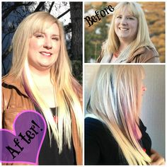 Fabulous hair extensions from Itty-bitty Salon SE Calgary