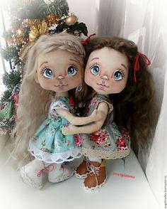 Купить Сестрички Снежанна и Иришка - комбинированный, кукла, кукла ручной работы, кукла в подарок
