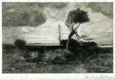 Robert Swain Gifford, American, Near the Coast, etching and aquatint